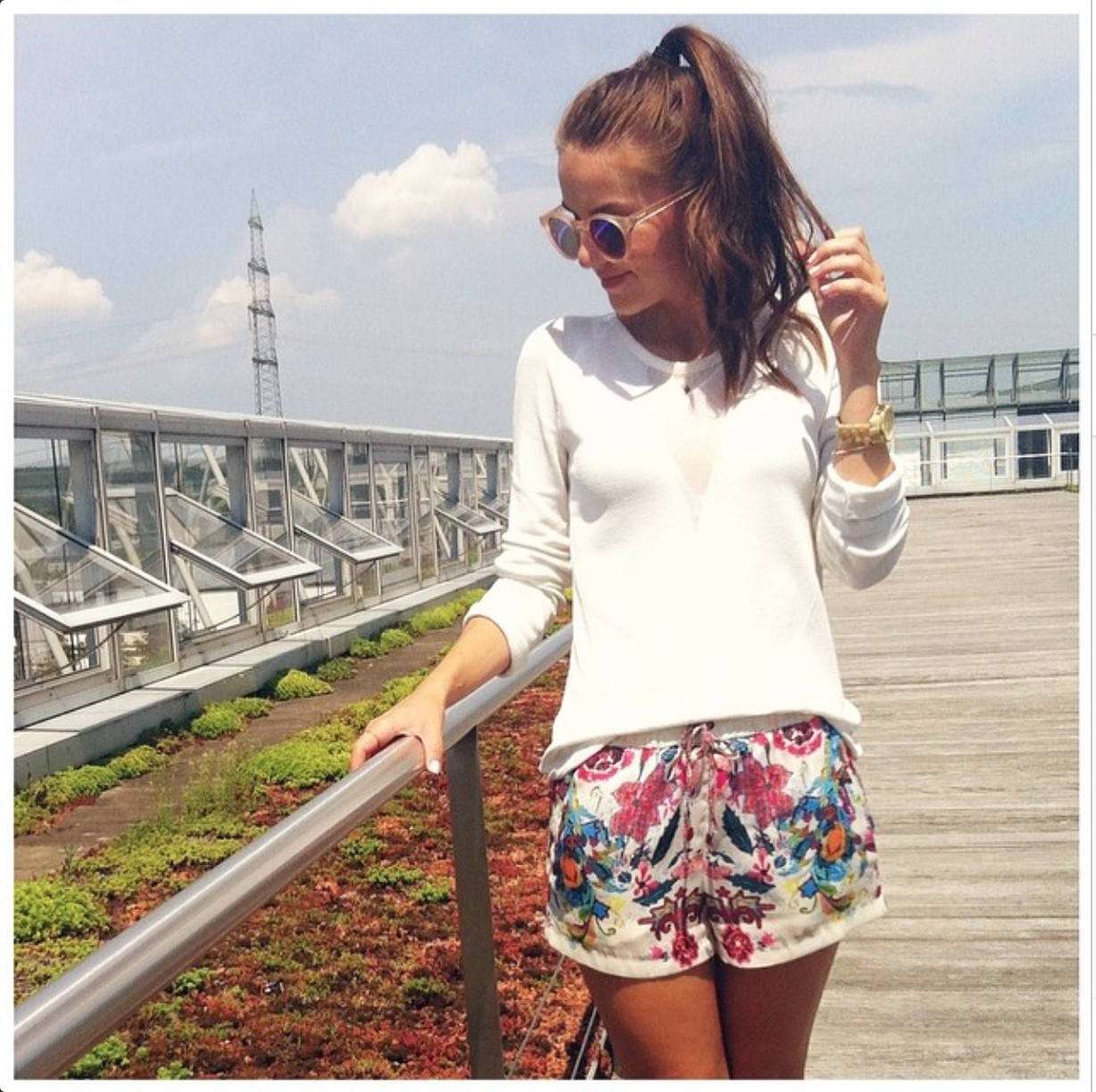 Shorts, Zara, Colorful, Summer, Lesspecs