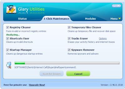 Glary Utilities scan