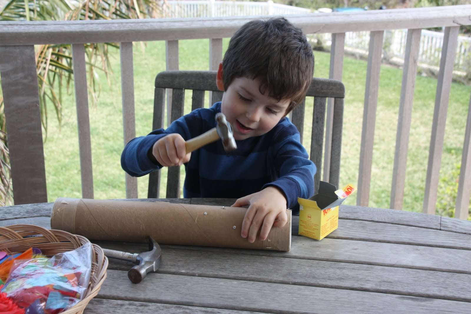 Homemade rain stick instrument