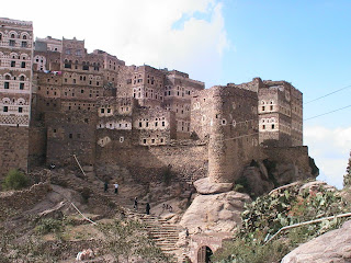 Al Hajarah - Walled city in the mist - Yemen