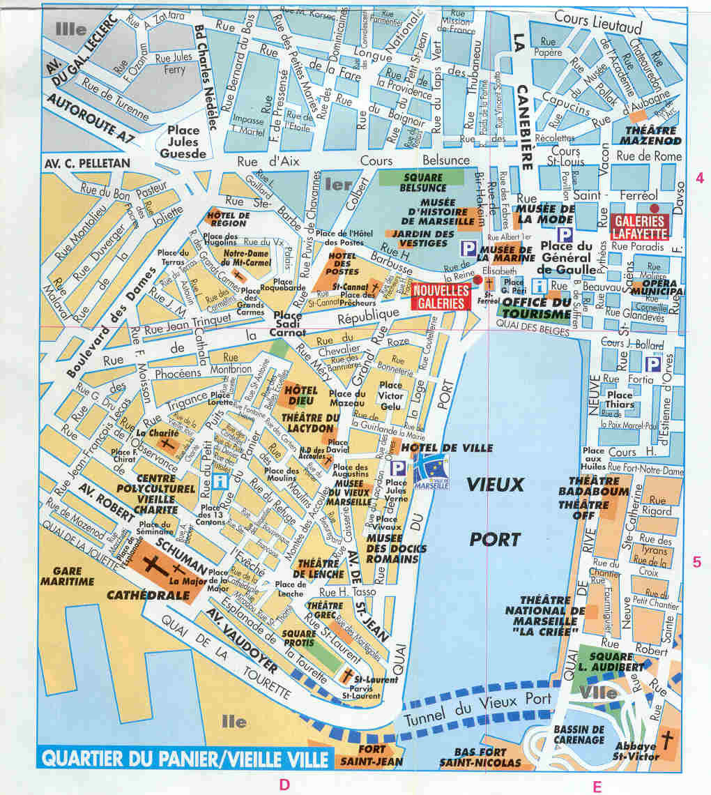 france: Map of Marseille City Pictures