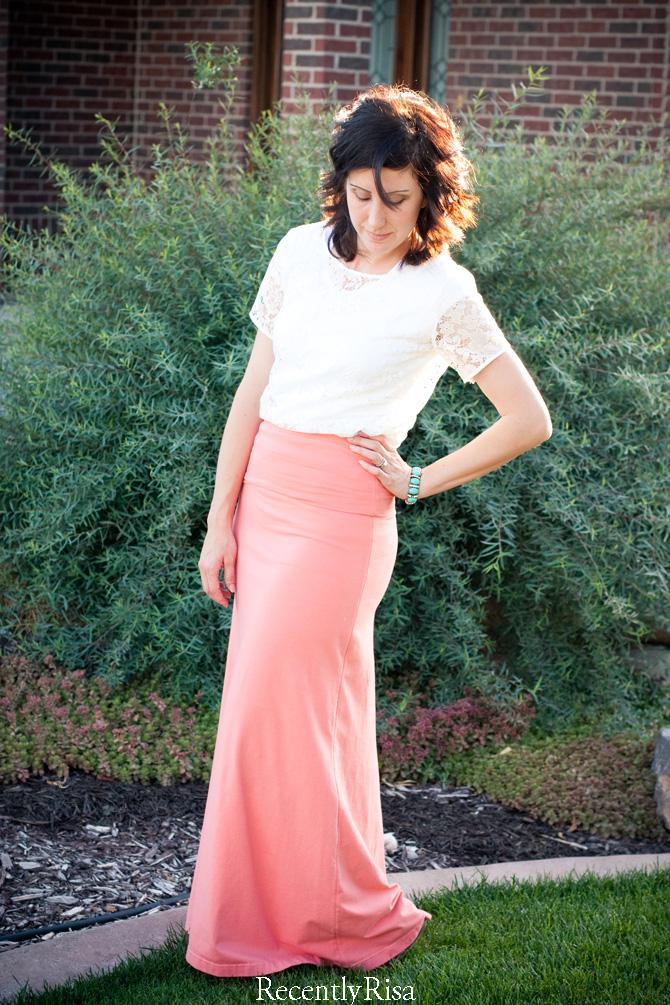 #DIY Coral Maxi Skirt | RecentlyRisa
