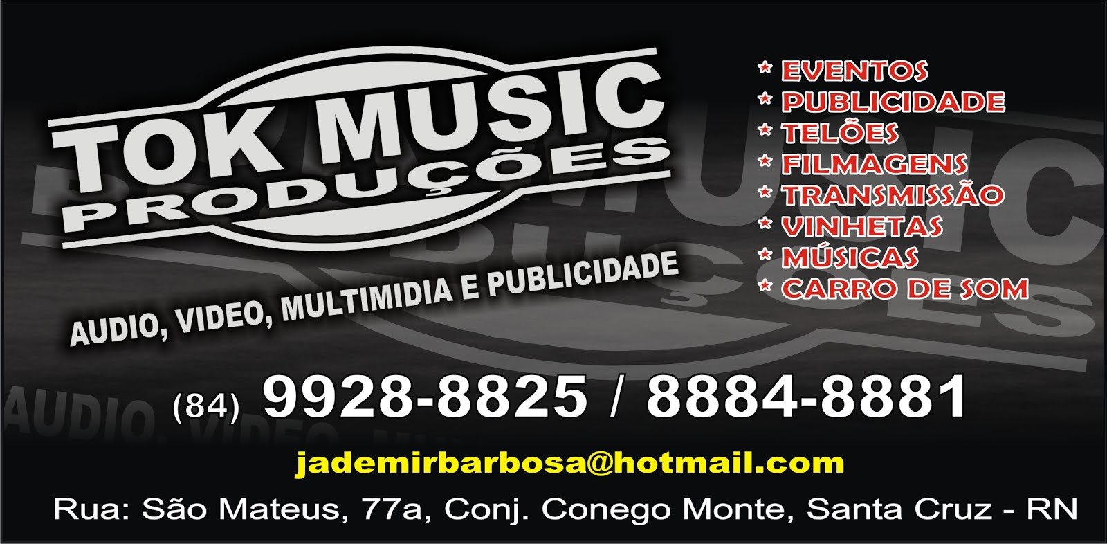 Tok Music Produtora - Jademir Barbosa
