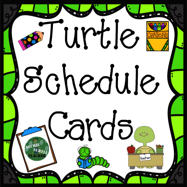 http://www.teacherspayteachers.com/Product/Classroom-Decor-Turtle-Schedule-Cards-1318963