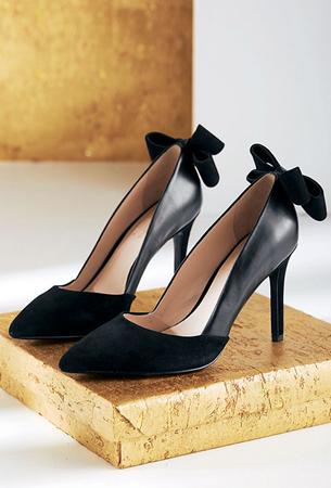 zapatos de tacón negros para fiesta La Redoute