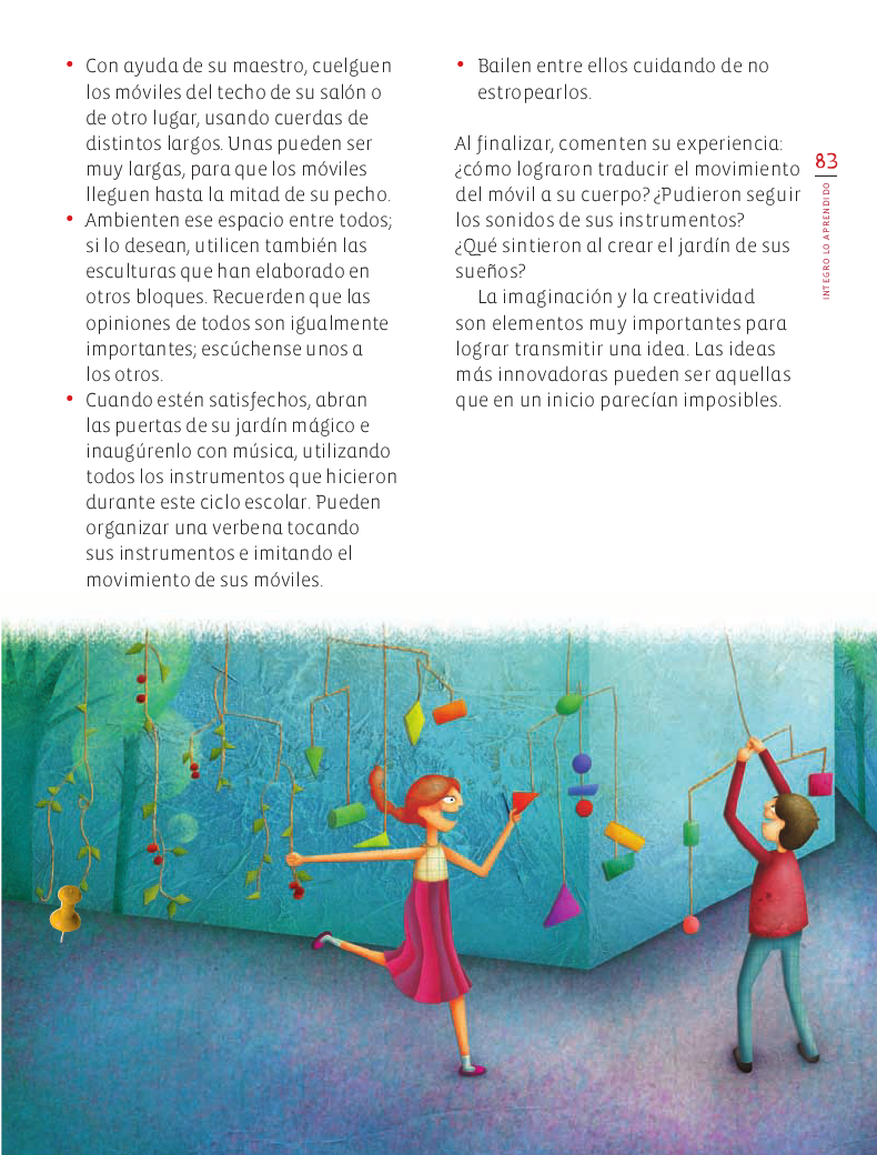 Integro lo aprendido Educación Artística 4to Bloque 5 2014-2015