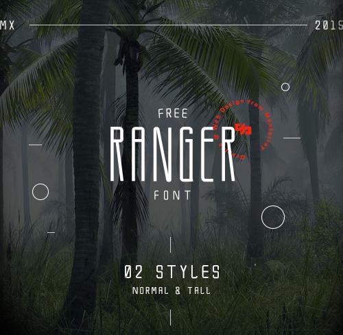 Font Commercial Gratis Terbaru Untuk Desainer Grafis - Ranger Free Font