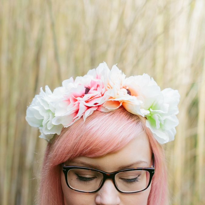 DIY hair, hair envy, hair goal, dream hair, pastel hair, coral hair, bamboo, flower crown, tropical flower, hair trend 2016, bangs