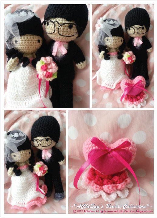 AChiBuu Handmade: Pink Wedding Theme Amigurumi Couple