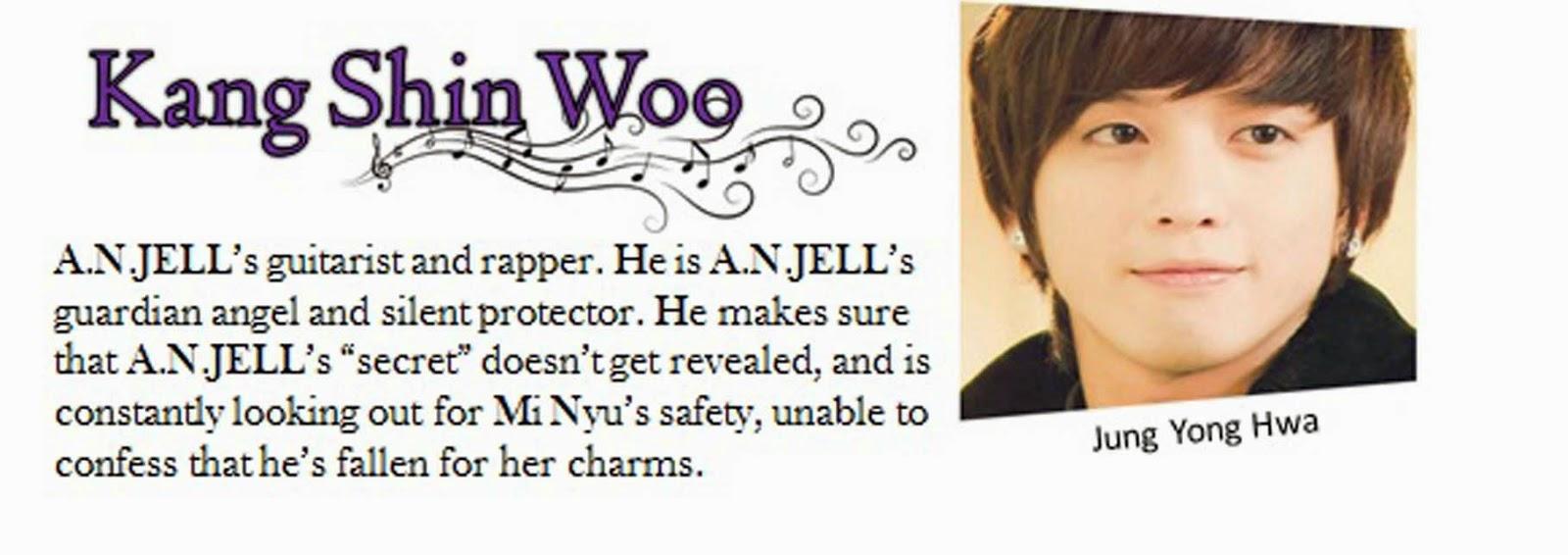 Jung yong hwa sebagai Kang shin woo