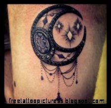 moon tattoo on Pinterest  Moon Tattoos Crescent Moon Tattoos and