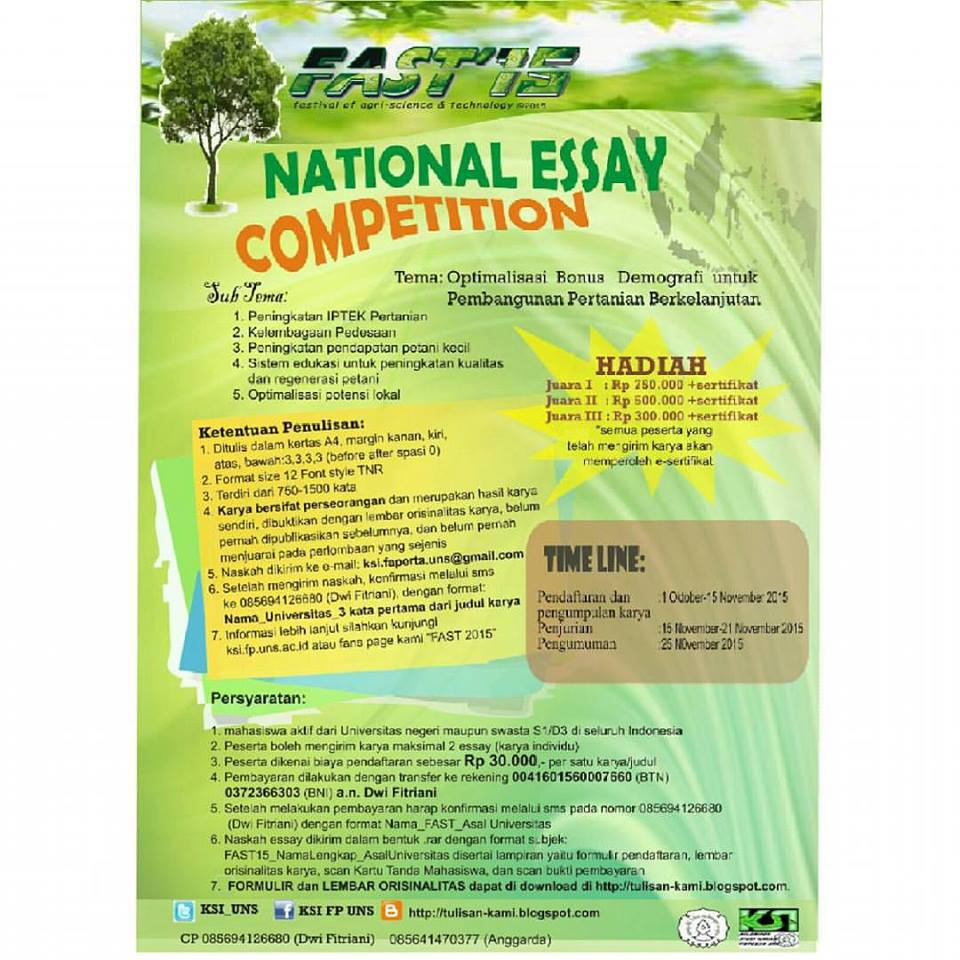 national essay competition fast 2015  festival agriculture
