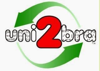 Logotipo de Uni2Bra consistente en dos flechas verdes que rodean el texto Uni2Bra destacándose el 2.