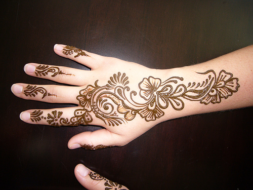 Mehndi For Back Hands : Mehndi designs on back hand design