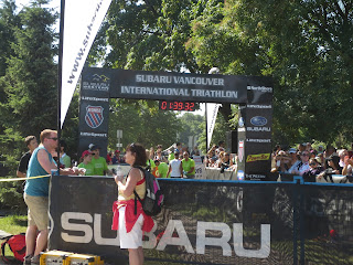 Subaru Vancouver International Triathlon 2013 finish line