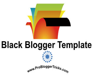 Black Color Blogger Template