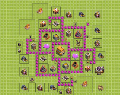 Formasi Base TH 6 Clash Of Clans Terkuat