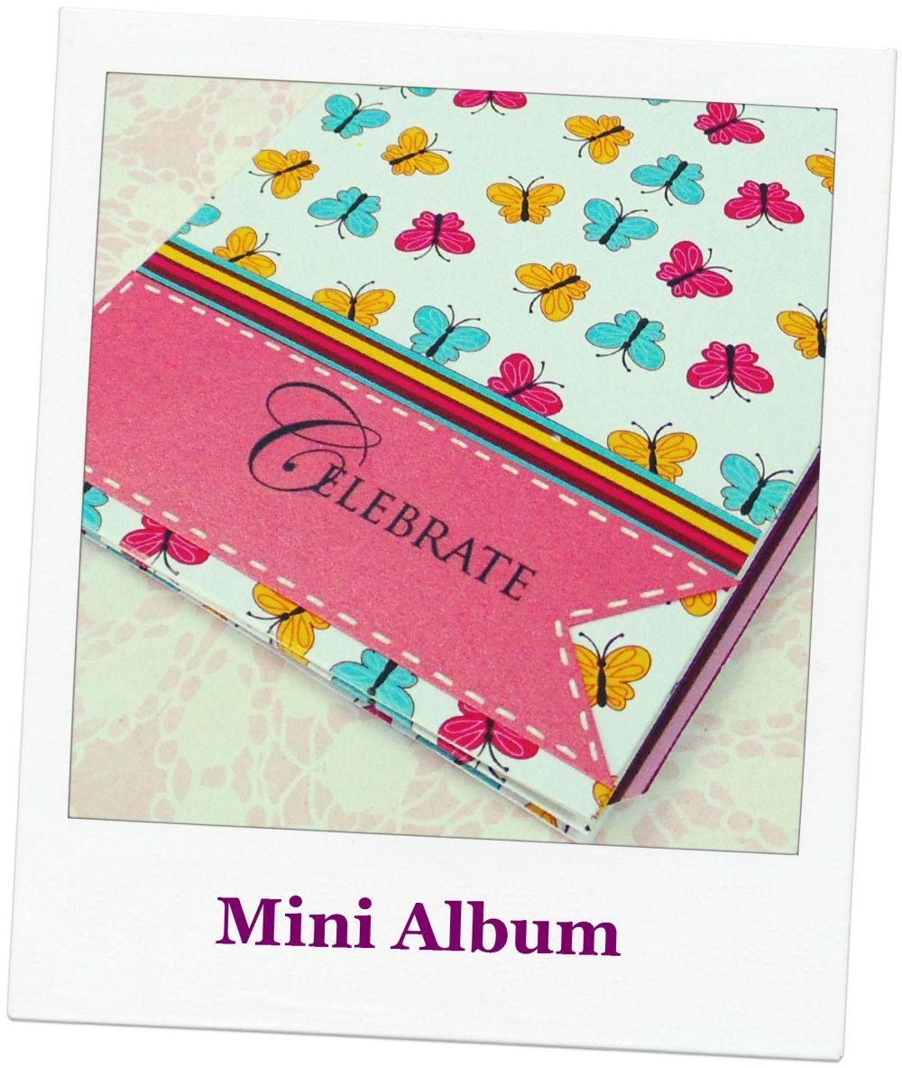 Ivankarecuerdos mini album celebrate - Decorar album de fotos por dentro ...