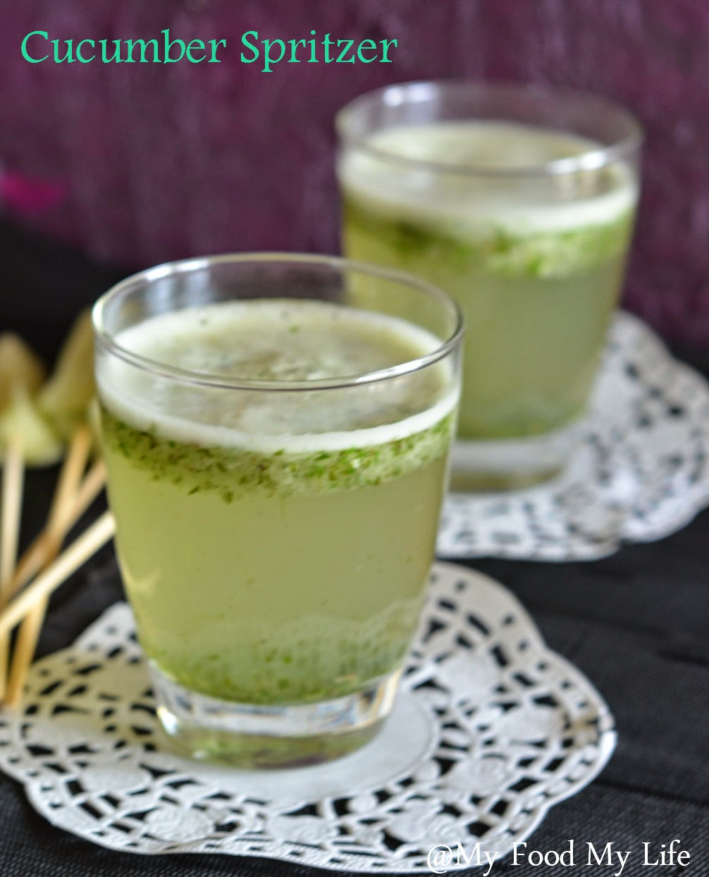 My Food My Life : Summer Cooler - Cucumber Spritzer