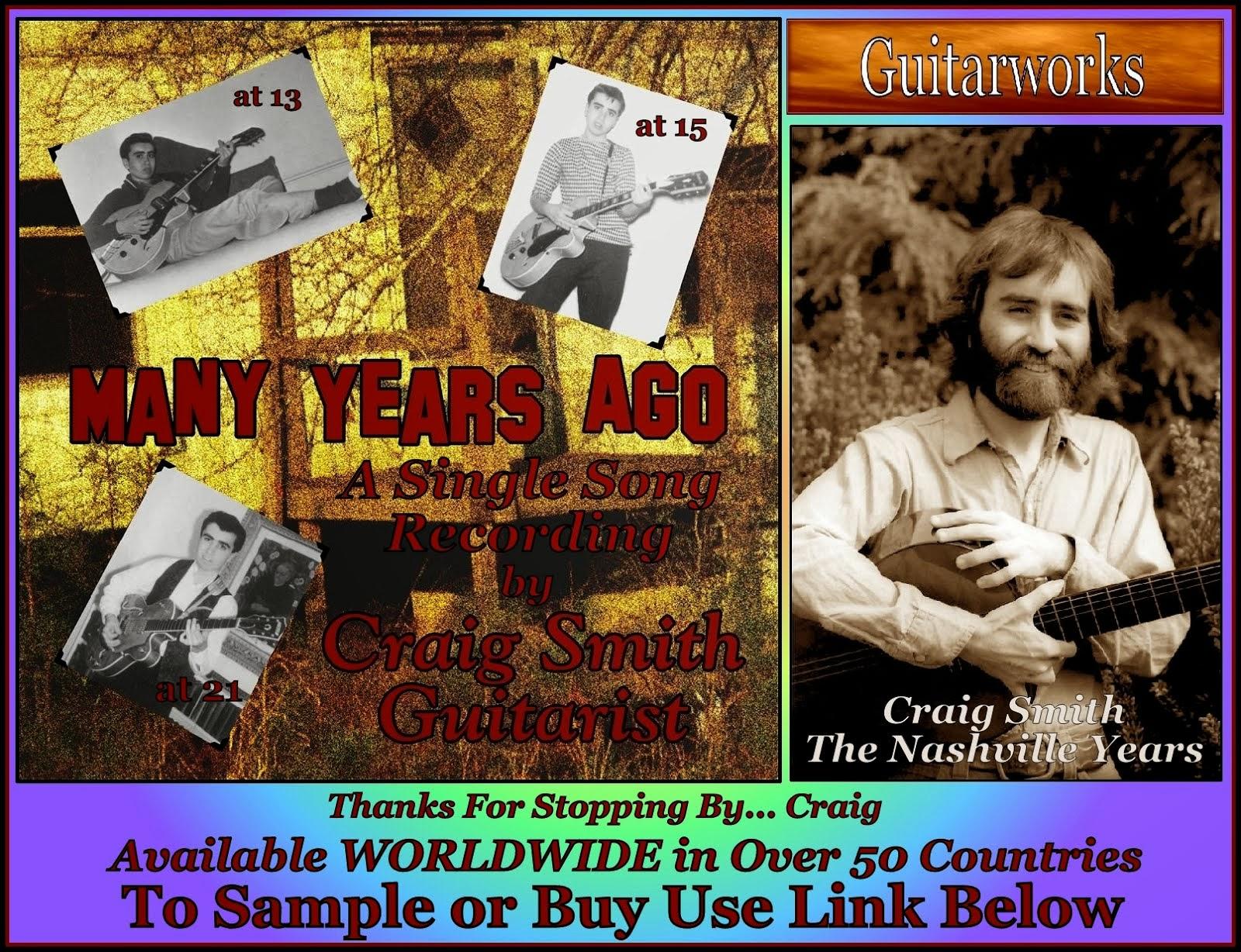Craig Smith ~ Many Years Ago ~ CD