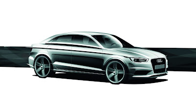 2013 Audi Spyder Sketches on 2012 Audi A3 4 Door Sedan Sketched