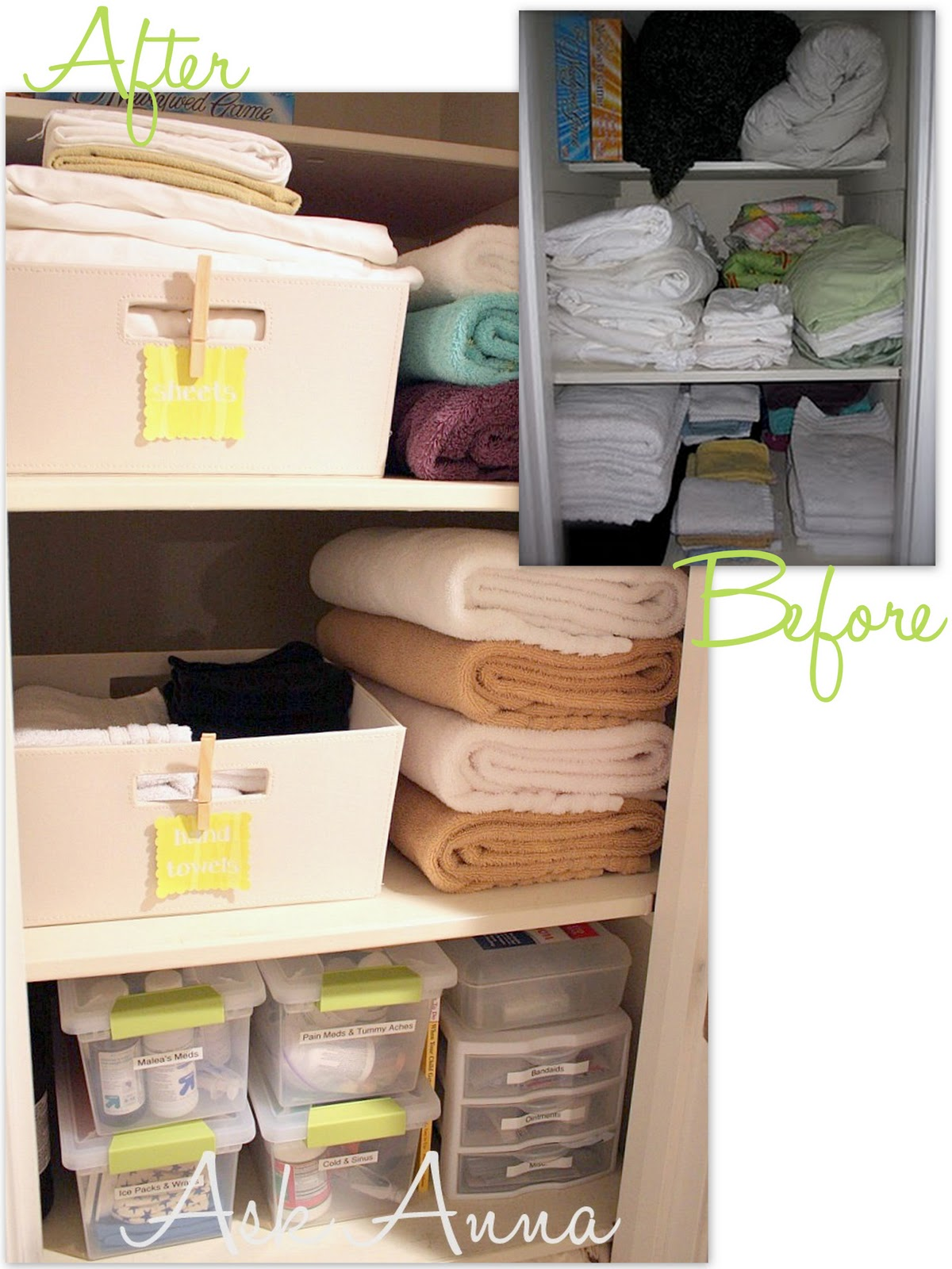 31 days of organizing tips day 13 linen closet from for How to organize your closets