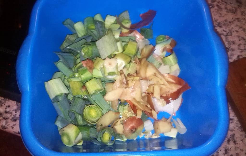 compost de restos de verduras
