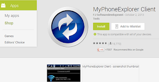 MyPhoneExplorer Software Sinkronisasi Ponsel Samsung dengan PC/Laptop