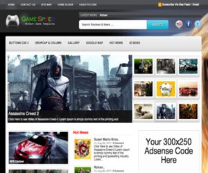 Game Speed WordPress Theme