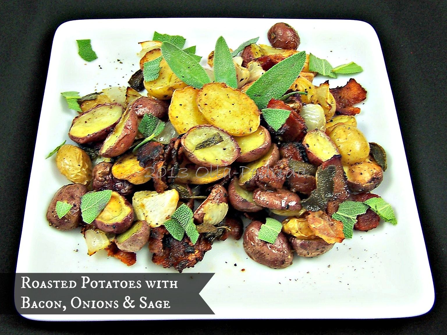 Olla-Podrida: Roasted Potatoes with Bacon, Onions & Sage