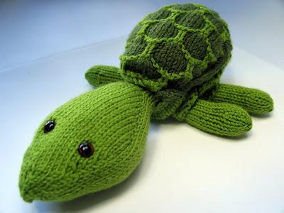 Sheldon Knit Turtle from Free Pattern