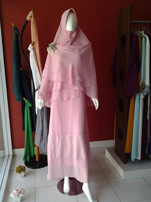 Model Gamis Sifon Syari Hijab Untuk Pesta
