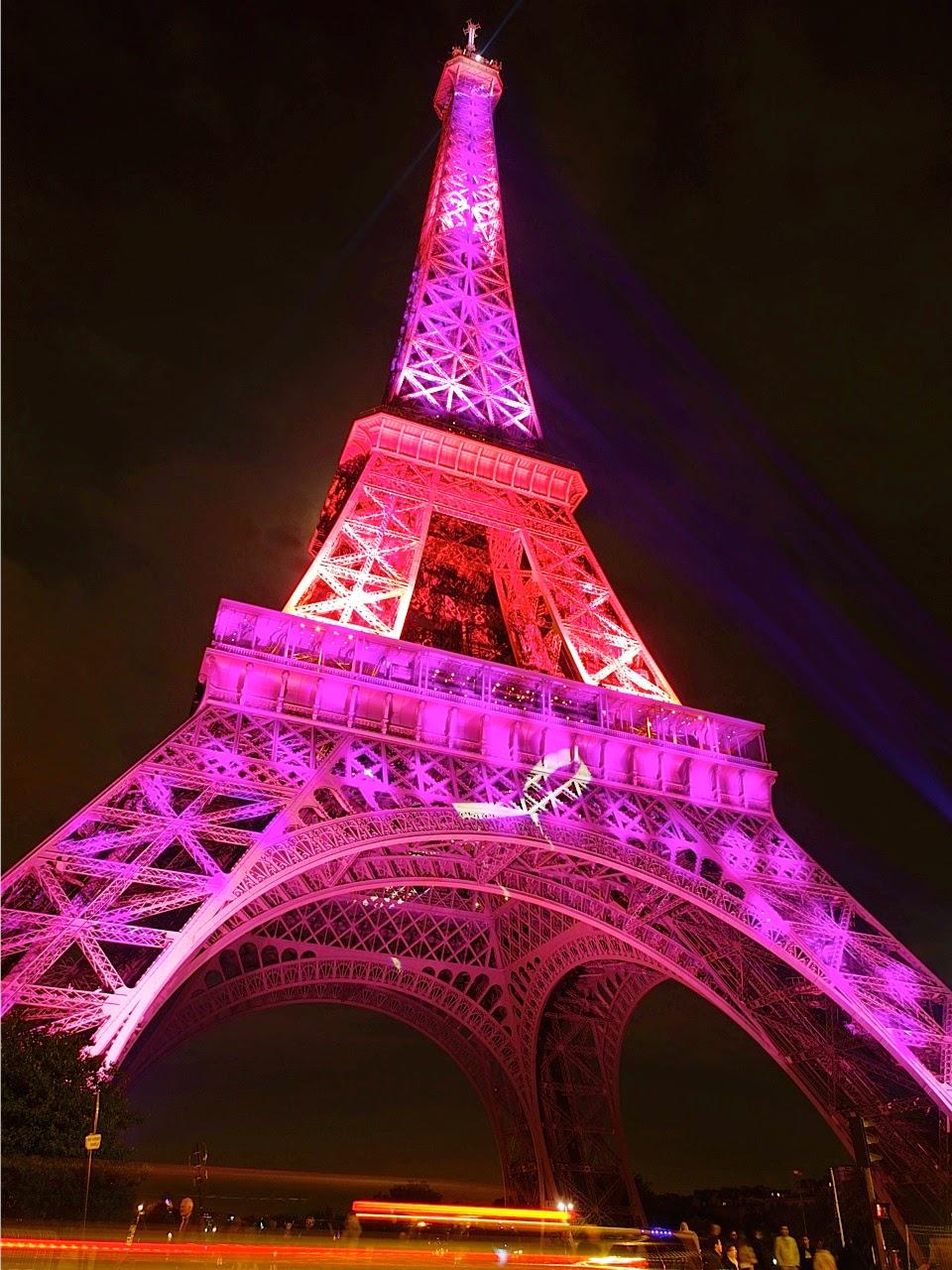 Resultado de imagem para outubro rosa iluminação paris