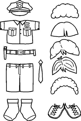 Manualidades para niños: Recortables para colorear de policia para ...