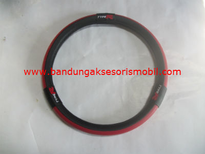 Sarung Setir New Model Type R Merah Hitam