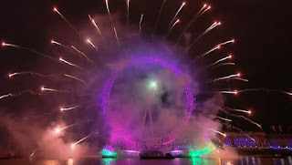 New Year London 2012 Eve Celebrations, Fireworks in the central London -Travel Europe Guide