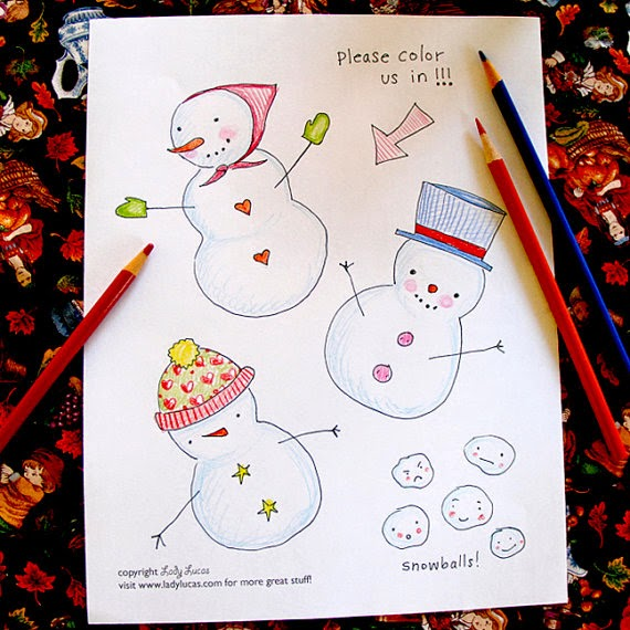 Snowman Coloring Kit