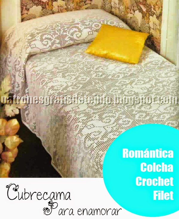 Cubrecama Crochet Filet