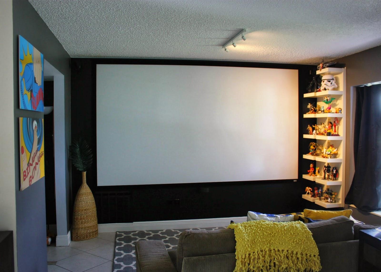 Casa Montada Cinema Em Casa -> Parede Da Sala Ideias