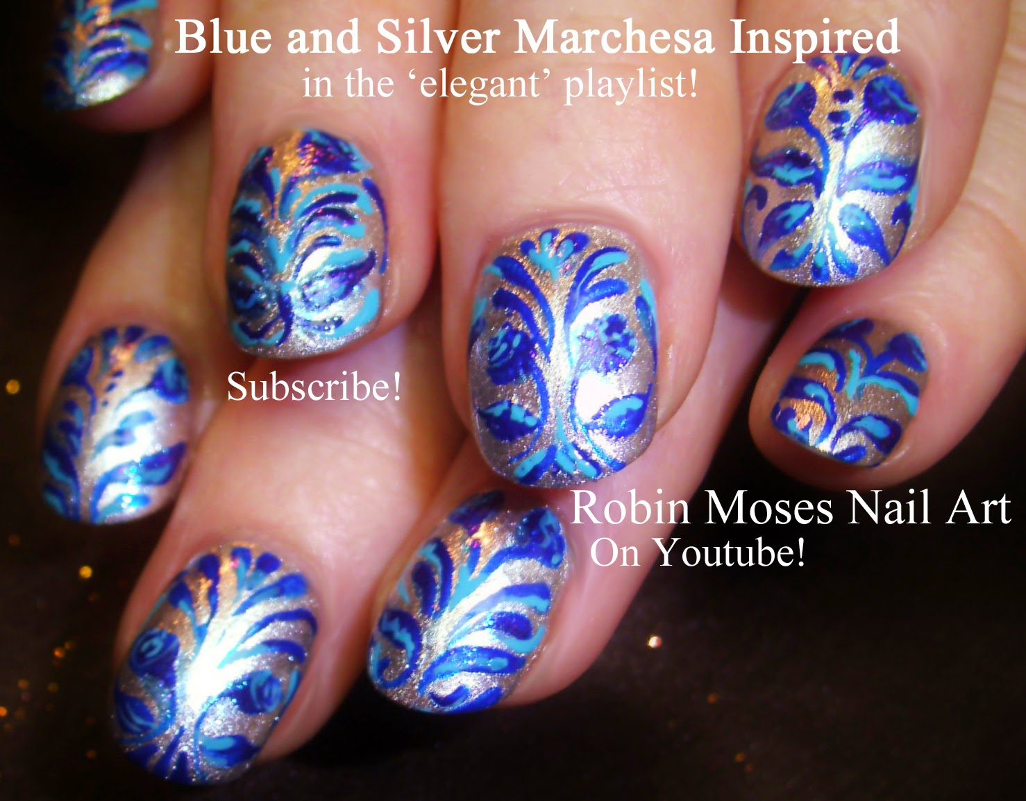 Robin moses nail art damask nails damask nail art royal blue damask nails damask nail art royal blue nails marchesa nail art marchesa print elegant nail art nails damask filigree nailart blue clip art prinsesfo Images