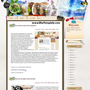 Beaches of Chile blogger template from wordpress. blogger template for travel blog. free blogspot template