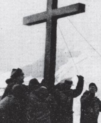 PRIMERA CRUZ CRISTIANA CHILENA EN LA ANTARTIDA