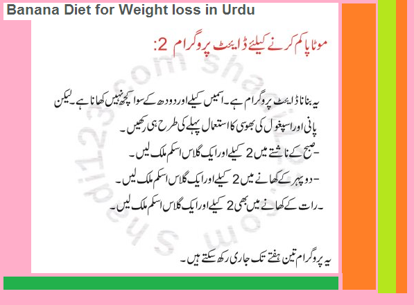 free diet plan weight loss urdu