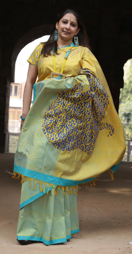 Saree, Design, Block Printing, textiles, wooden blocks, block print textiles,