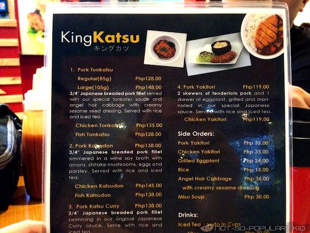 King Katsu Menu