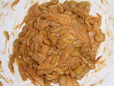 納豆にTABY鯖油漬けトマトソース感覚