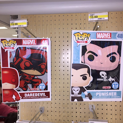 Target Exclusive Daredevil & The Punisher Pop! Tees Marvel T-Shirts by Funko