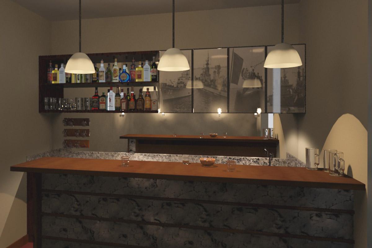 Oniria dise o de barras y bares for Modelos de barras para bar