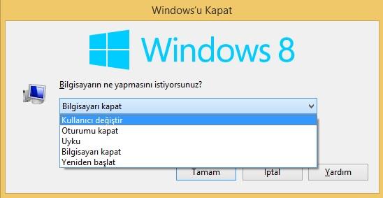 Windows 8.1 Kullanıcı Değiştir