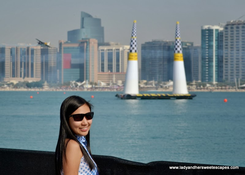 Lady in Abu Dhabi Corniche